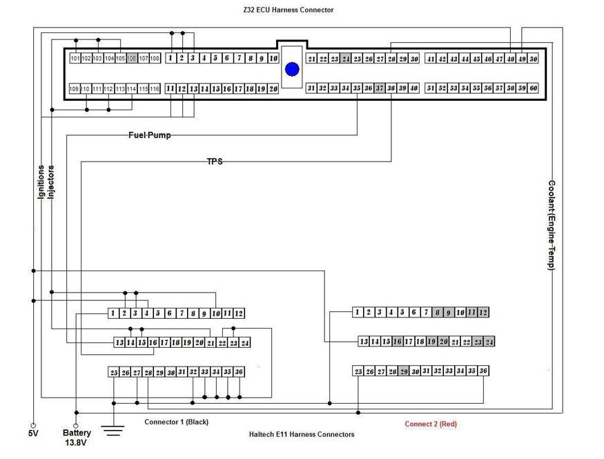 map s haltech setup e11 z32 harness connection